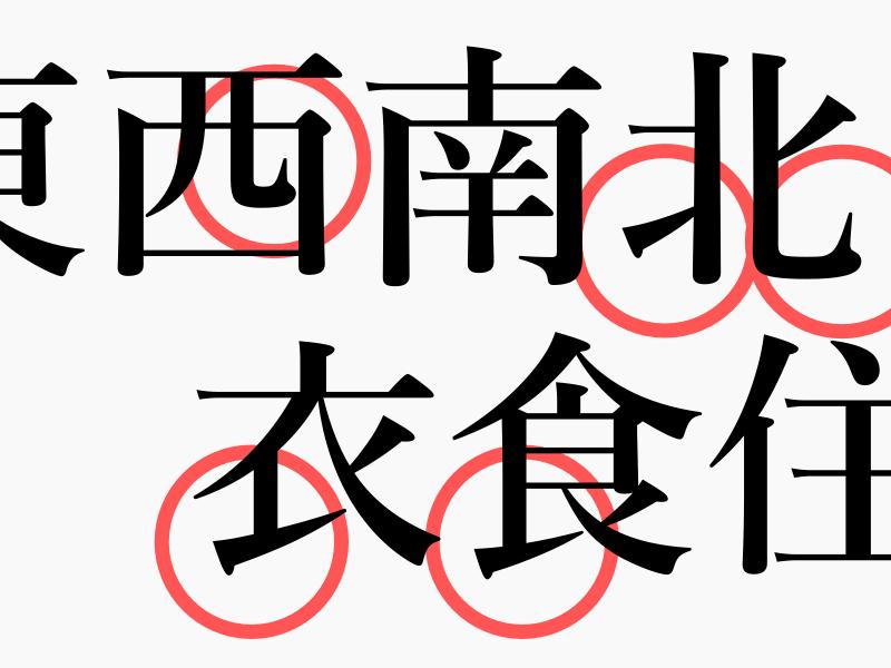 明朝体と手書きでビミョーに字形が異なる漢字の書き取り問題対策