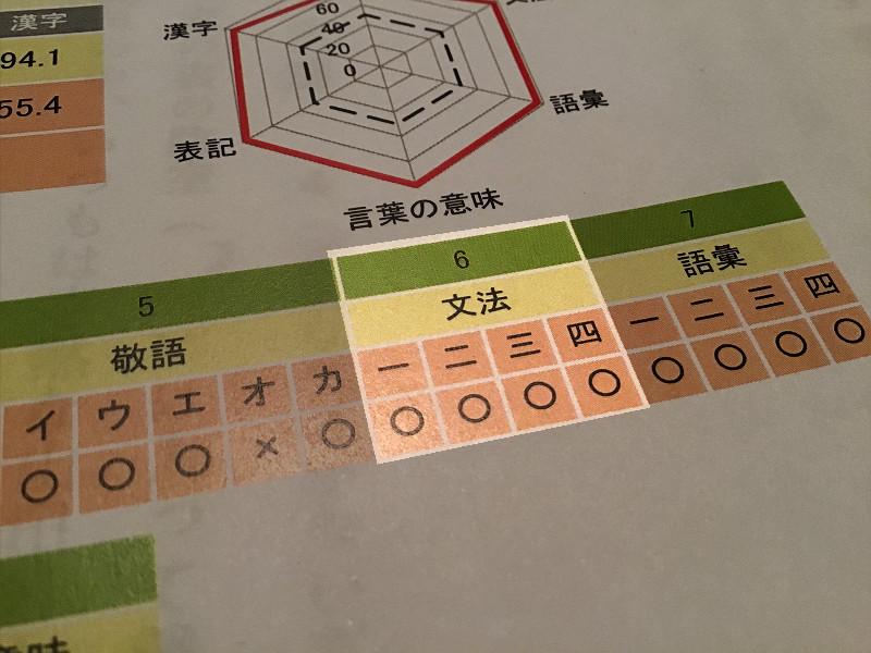 日本語検定文法問題の正誤判定